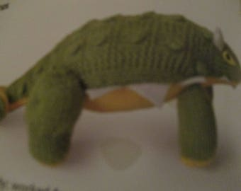 Handmade Knitted Ankylosaurus Dinosaur Part Of The Prehistorc Collection (New, Made To Order) 3+