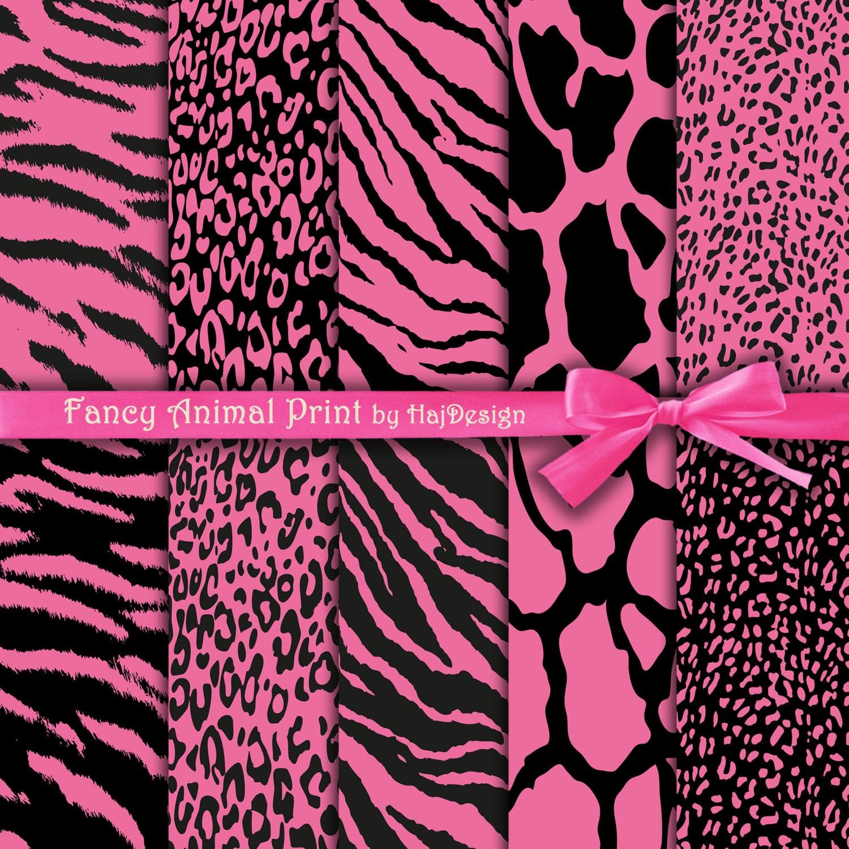 Animal print digital paper : FANCY ANIMAL PRINT Pink Zebra Print Hd