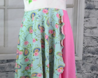 embroidered floral dress - toddler spring dress -  paisley rose dress - 3T floral dress - ready to ship - nickisrainbow dress - paisley