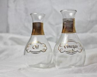 Mid Century Pyrex Oil and Vinegar Cruet Set