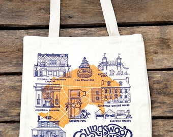 Collingswood, NJ Two Color Screen printed Tote Bag