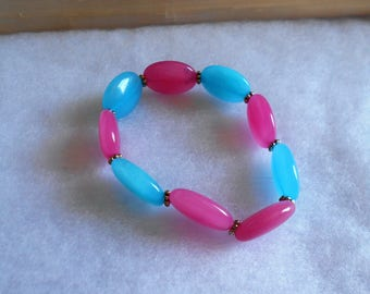 Bubble Gum Stone Strech Bracelet