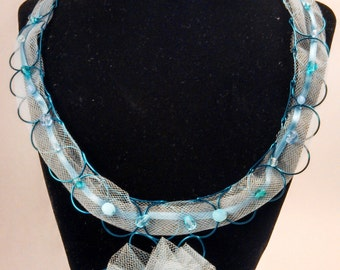 Mixed Blues Necklace and Earrings