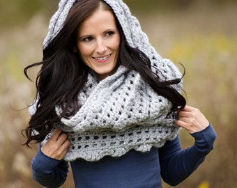 Ruffle Infinity Scarf Crochet Pattern PDF