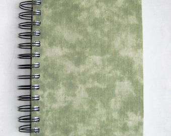 Sea-Green Motely Fabric Notebook
