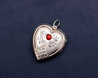 Sterling silver heart-shaped locket Made in USSR