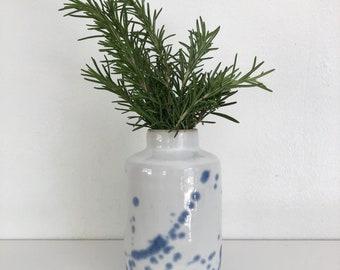 Handmade Ceramic Bud Vase. Funsize Ceramics. Pottery Accent Vase.