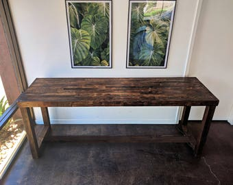 Reclaimed Wood Bar Restaurant Counter Community Rustic Provincial Kitchen  Coffee Conference Office Meeting Table Tables Hightop