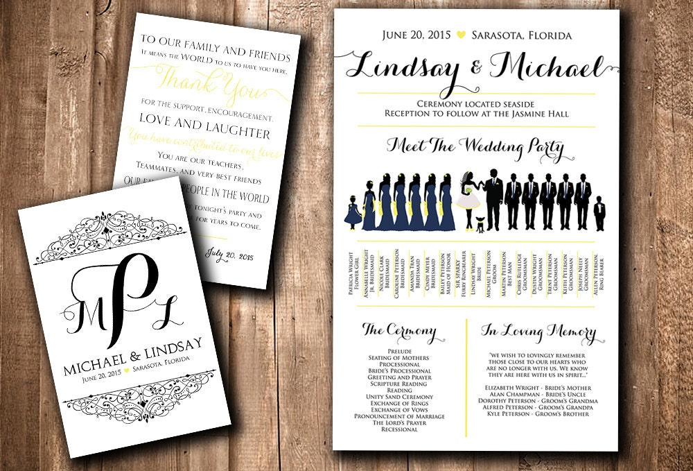 meet the wedding party template
