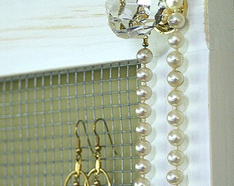 Jewelry Holder Organizer Crystal Knobs Necklace Holder Earring Holder