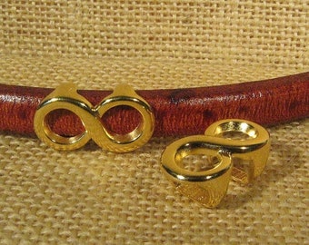 2 Regaliz Infinity Spacers - Gold Plated - SP85