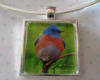 Bluebird Pendant or Scarf Slide, scarf jewelry, scarf ring