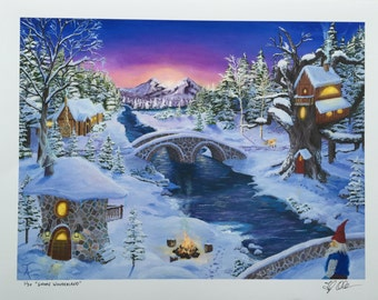 Gnome Wonderland Fine Art Print
