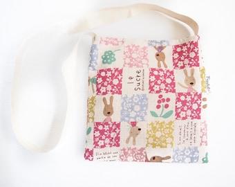 SALE - 30% off - Child's Shoulder Bag - Patchwork Rabbit (Pink)
