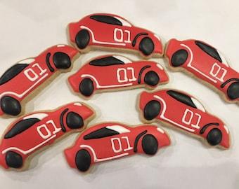 Race car themed cookies / purim cookies