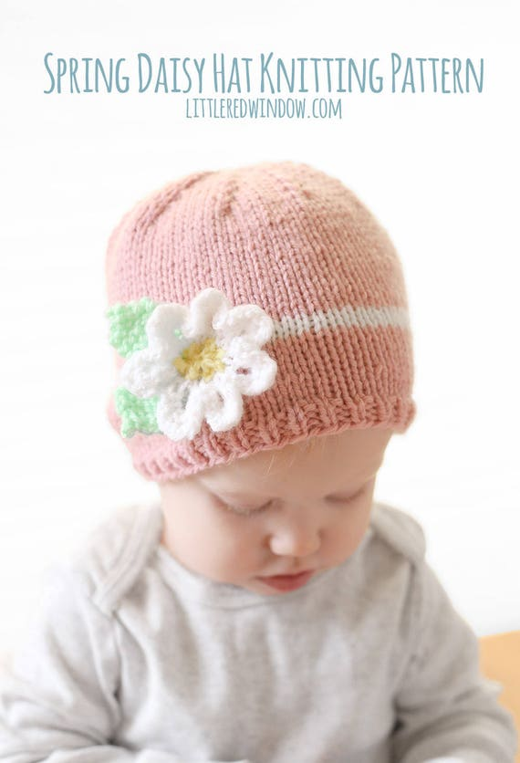 Baby Flower Hat KNITTING PATTERN / Easy Baby Hat Pdf / Spring