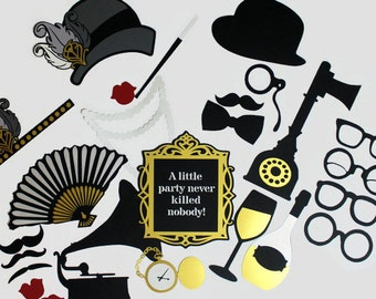 Great Gatsby 1920's Inspired Photobooth Props - Wedding Photo Booth Party