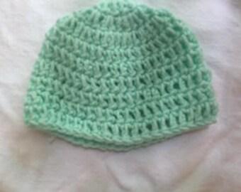 Classic Mint Crocheted Hat