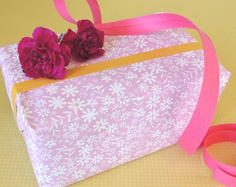 Pink Ditzy Gift Wrap (2 sheets) | wrapping paper | girls wrap | birthdays | Christmas | pink wrap