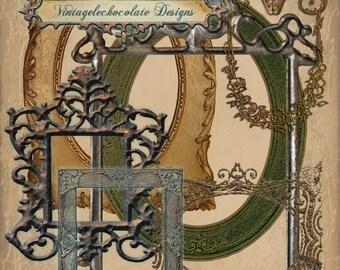 Digital Scrapbook Frames, Digital Scrapbook Clip-art, Digital Victorian Frames, Digital Vintage Frames, Vintage Scrapbook Supplies. No. e.8