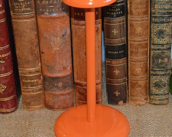 Vintage French Orange Wood Hat Stand Hardware Great Vintage Display Piece