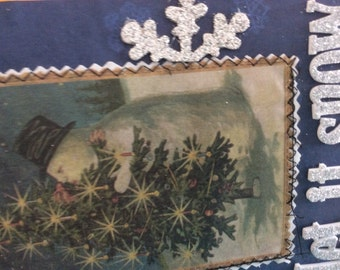 Journal snow winter christmas handmade