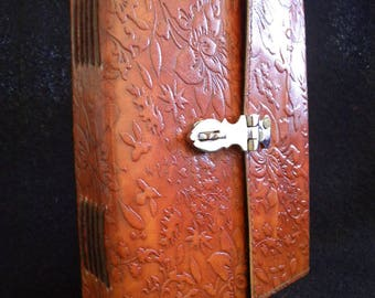 A5 Handmade Lockable SECRET Journal Diary with DECKLED Handmade Cotton Paper