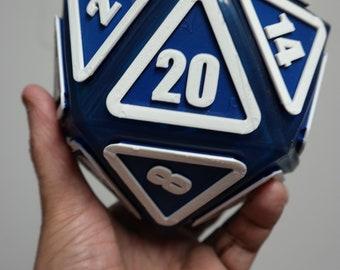 "Giant D20 Twenty-Sider 6.5"": Blue Demise"