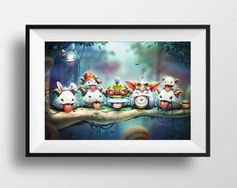 Cute League of Legends Poros Poster Poro Print Video Game Wall Art Adorable Gamer Gift MOBA LeagueofLegends LoL Poros Kawaii Home Decor