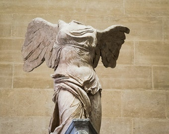 Fine Art Photography, Winged Victory of Samothrace, Paris, Louvre, FREE SHIPPING