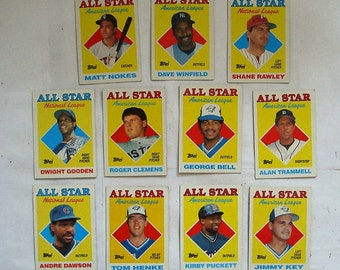 These 12 (vg or better cond)  1987 MAJOR LEAGUE Baseball cards.   Cards by TOPPS See description