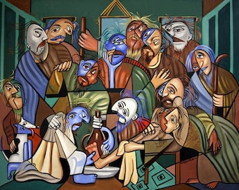 Before The Last Supper Poster / Print Jesus Holy Spirit Anthony Falbo