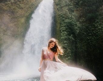 Ethereal Falls One of Kind Wedding Dress