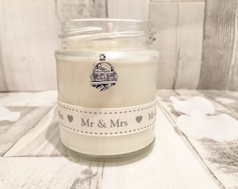 Wedding/Just Married Scented Candle Gift