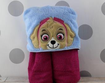 READY TO SHIP Kid's Hooded Towel - Skye Hooded Towel – In Stock - Skye Towel for Bath, Beach, or Swimming Pool