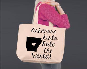 Arkansas   Bridesmaid Tote   Tote Bag   Canvas Tote Bag   Beach Tote   Canvas Tote   Shopping Tote   Shopping Bag   Korena Loves