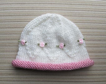 Knitting Pattern #173 Hat Masha for a Baby Girl 0-3, 3-6 and 12-18 Months