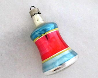 Vintage Christmas Ornament Bell Glass Ornament USA