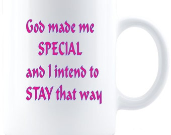God Made Me Special Inspirational Mug - Great Faith Gift For Women