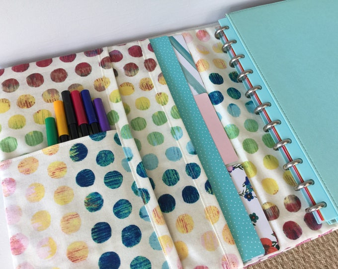 Custom padfoilo journal notebook planner organizer binder cover made to order from your choice of cotton fabric