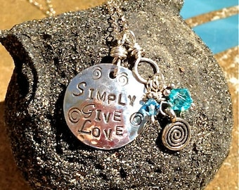 Simply Give Love Charm Necklace ~ In Support of Sarah