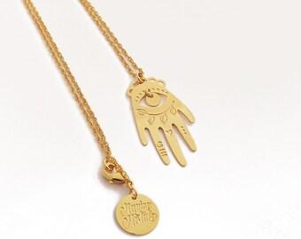 Necklace handmade Luckyhand lucky gold filled