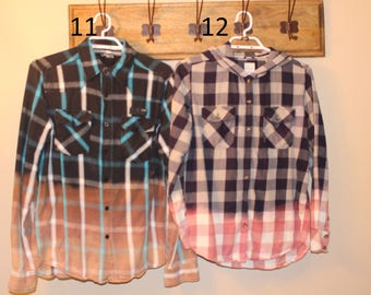 Dip Bleached Flannels, Size Small 11-19