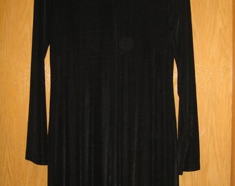 vintage slinky black Gap dress size L . . . . new with tags . . . made in the USA