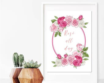 Rose All Day // Art Print