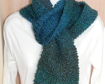 Hand Knitted Lagoon Scarves
