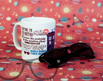 Dr Who inspired - Mug - geek gift - timelord - Tardis - The Doctor - Dr Who fans - Whovians - coffee mug - geek gift - Dr Who fan art - nerd