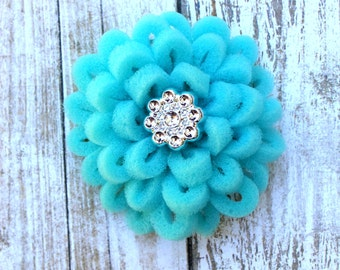 Hair Clip, Baby Hair Clip, Baby Gift, Girl Hair Clip, Toddler Hair Clip, Barrette, Blue Flower Barrette, Little Girl Barrette