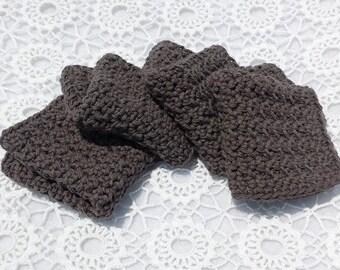 Gray and White Dishcloths Crochet Dish Rags * Custom Listing for Kendra *