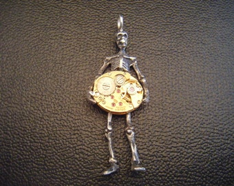 Steampunk Skeleton Pendant
